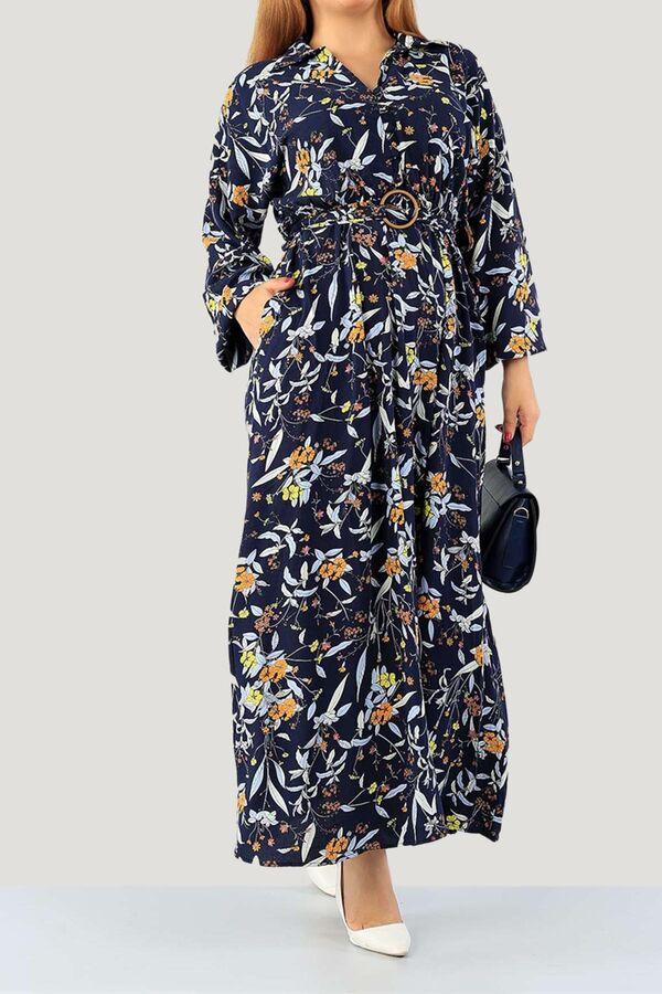 فستان كحلي قطن بوليستر تسوق أون لاين حجاب مودانيسا أزياء محجبات ملابس محجبات فساتين جلباب عباية ملابس فستان Muslim Women Clothing Abaya Dress Dresses