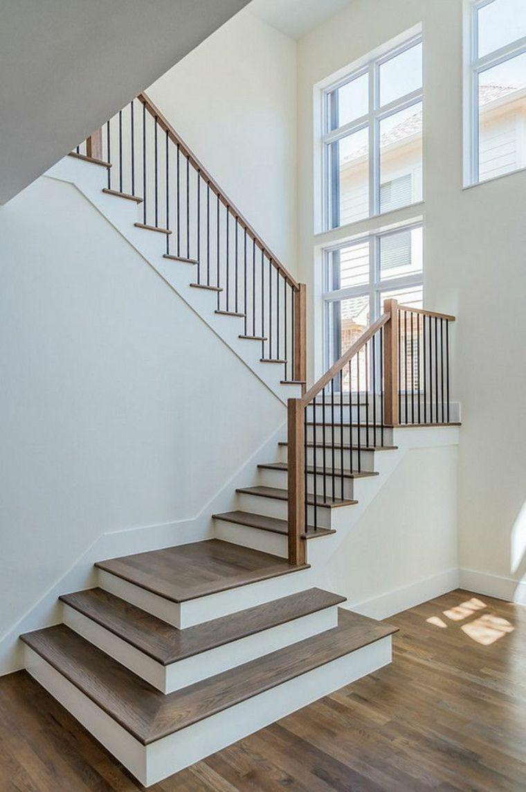 Escaleras Modernas De Interior Como Elegir Las Barandillas - Barandillas-para-escaleras-interiores