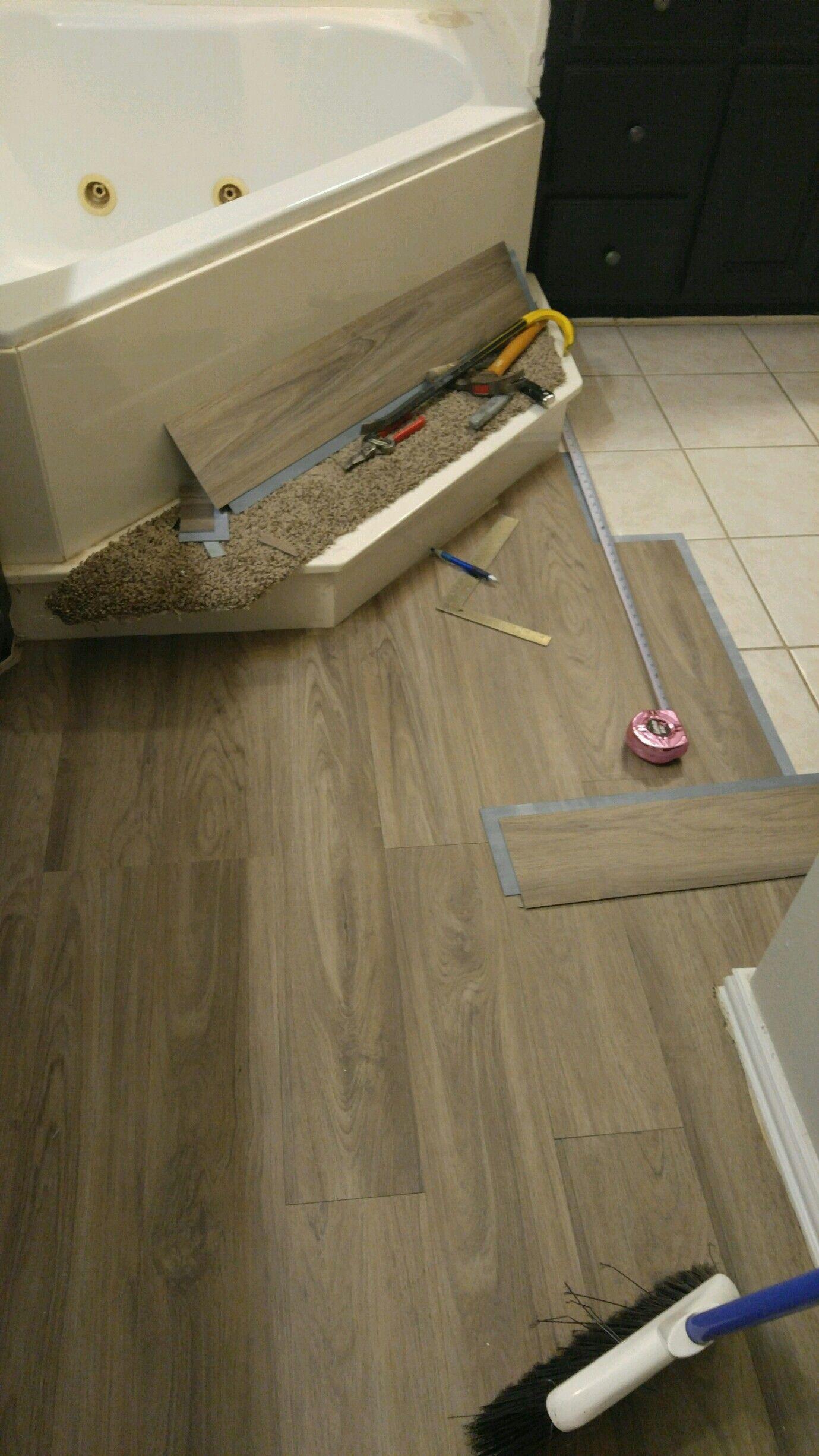 I Did This Myself Vinyl Plank Flooring Over Tile Flooring Trends Vinyl Plank Flooring Diy Flooring
