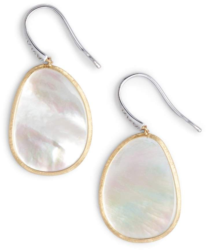4af8c21ec1863 Marco Bicego Lunaria Mother of Pearl Drop Earrings | Products | Drop ...