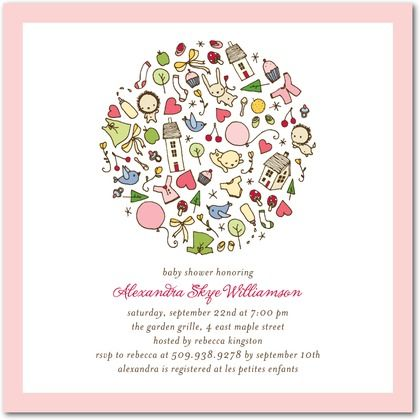 Shower Accessories Baby Shower Invitations