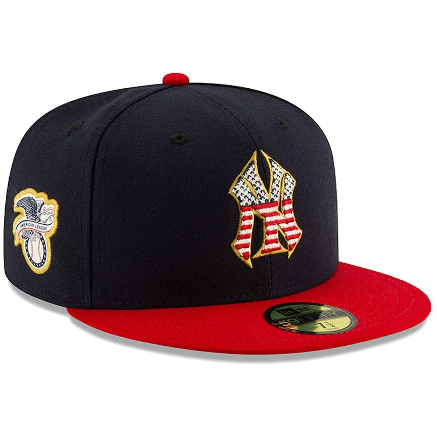 Men S New York Yankees New Era Navy Red Stars Stripes 4th Of July On Field 59fifty Fitted Hat In 2020 New York Yankees Yankees News Yankees