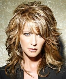 Image result for Layered Medium Length Curly Hairstyles