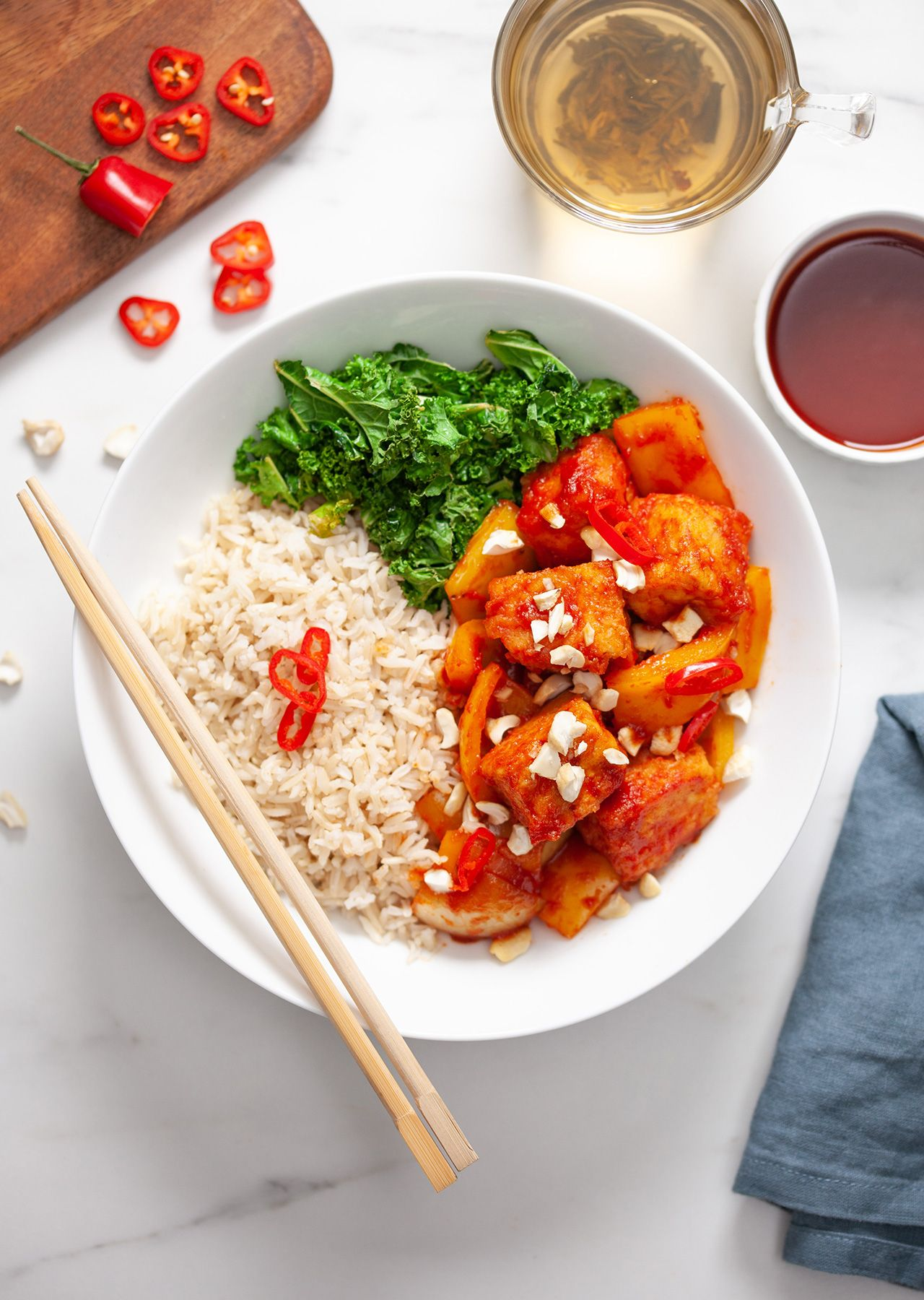 Sweet & Sour Sticky Tofu | Vegan Asian Recipes in 2019
