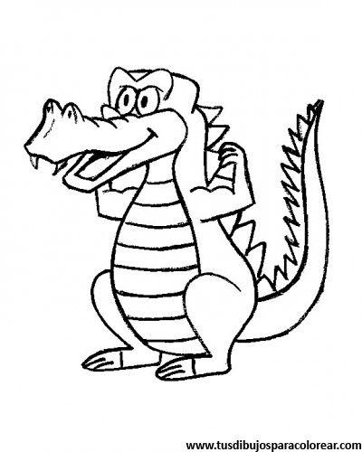 dibujos para colorear de cocodrilos | Dibujos para colorear ...