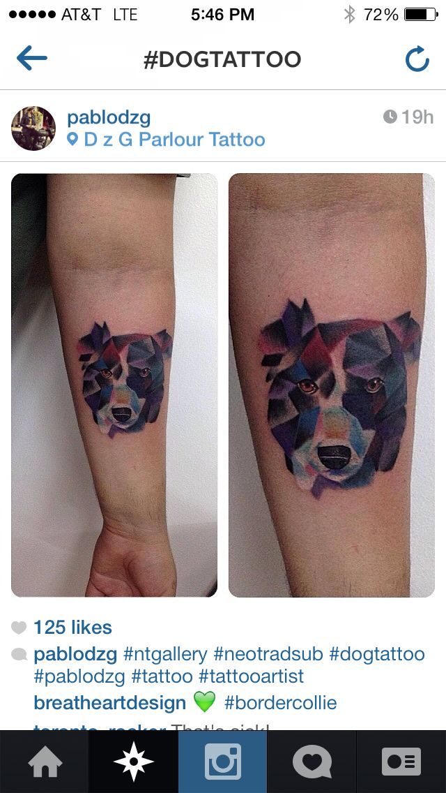 Geometric Dog Tattoo Tattoos Inspirational Tattoos Geometric