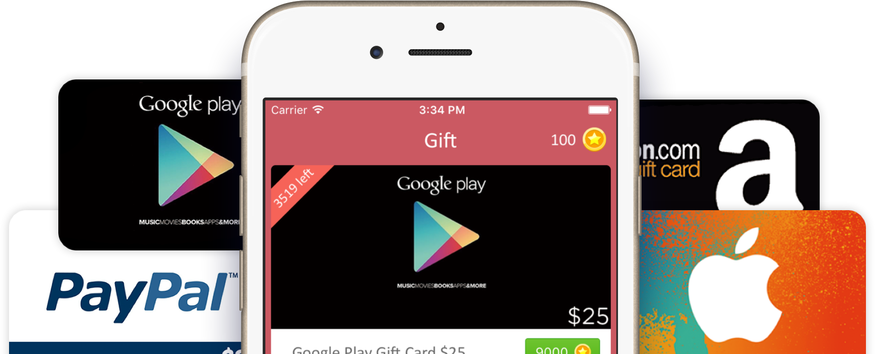 Get this app you will get free gift cards use my code to get 100