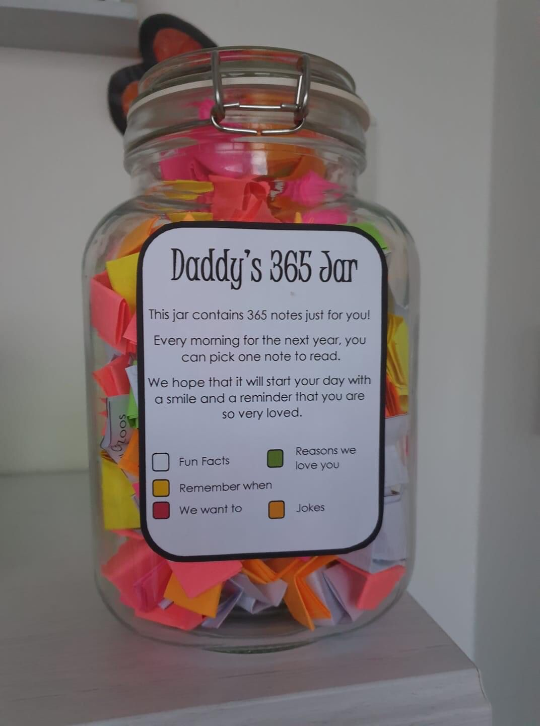 Fathers Day 365 Note Jar Birthday Gifts For Best Friend Diy Mothers Day Gifts