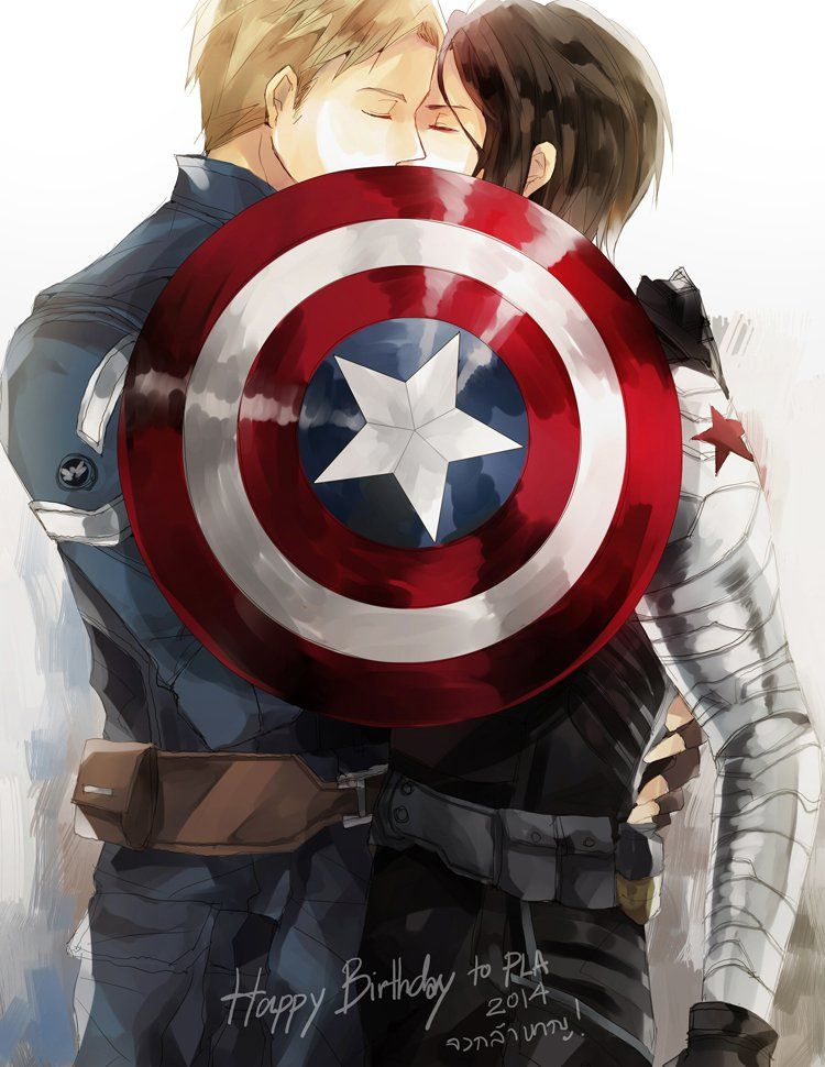Captain America should stop bothering Iron Man, and start kissing Bucky Barnes instead
