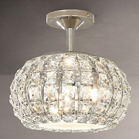 Buy John Lewis Venus Ceiling Light Crystal And Chrome Online At Johnlewis