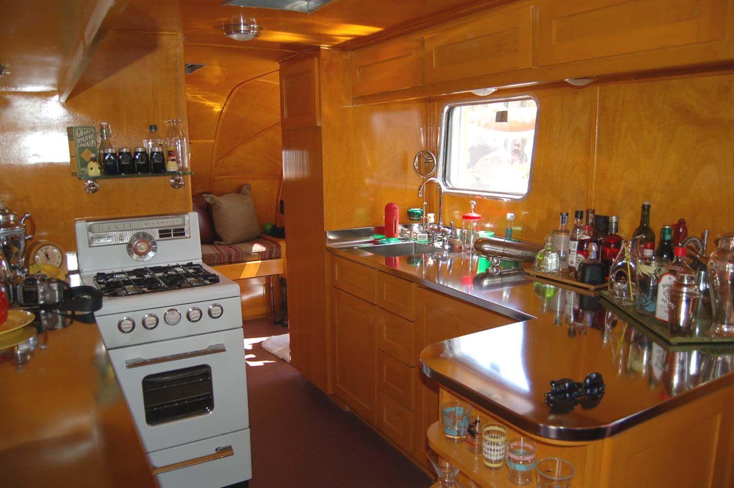 Beautiful Kitchen Area In Vintage 1948 Spartan Manor