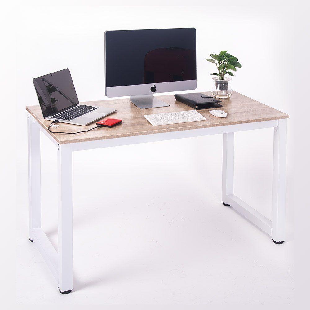 AmazonSmile: Merax Modern Simple Design Computer Desk Table Workstation For  Home U0026 Office (White And Oak): Home U0026 Kitchen