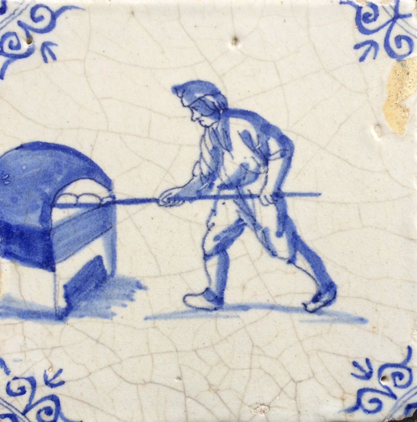 Antique Very Rare Dutch Delft Tile Baker & Oven Circa 1625-1650 | Delft  tiles, Delft, Dutch tiles