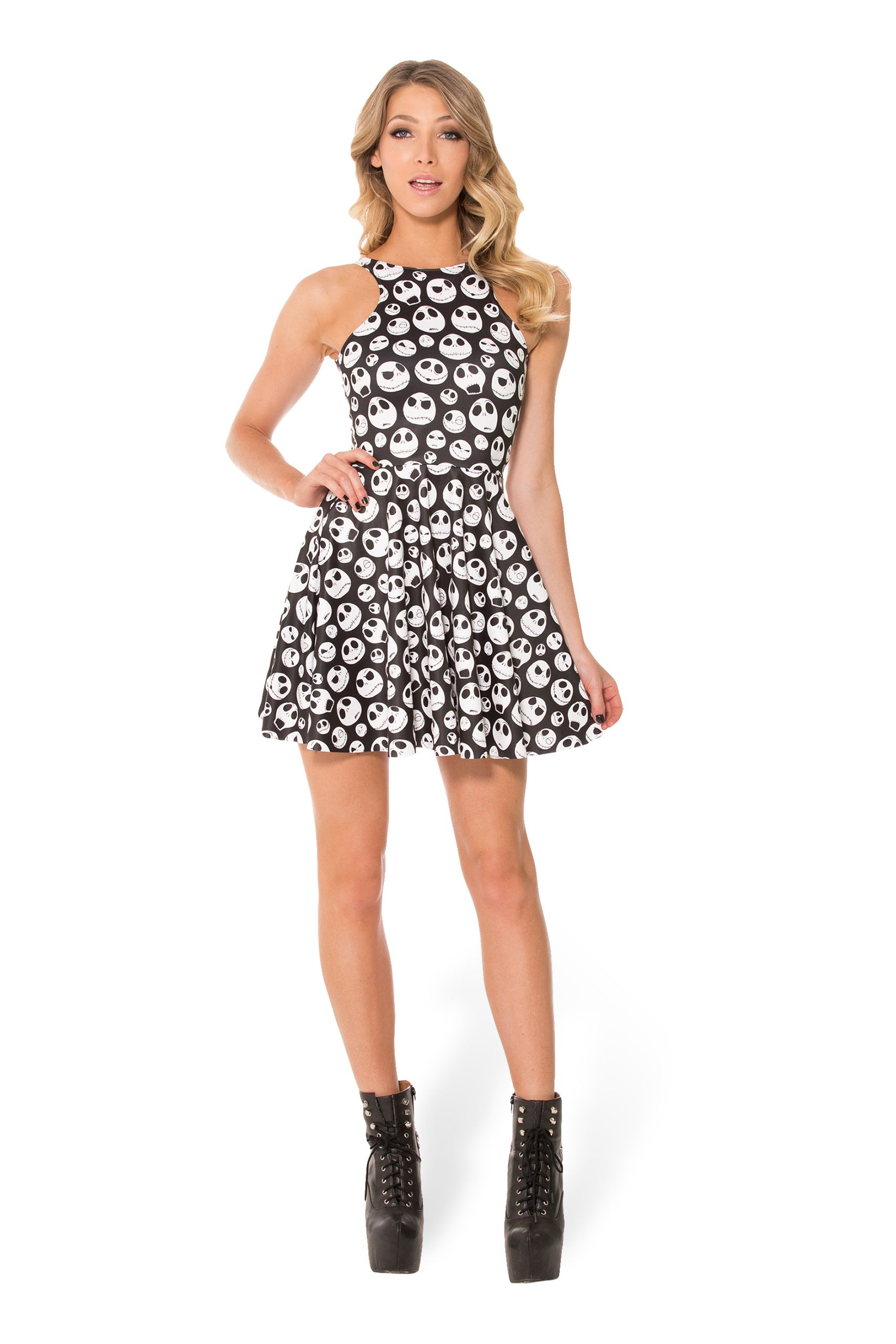 1c9722b1e5 Jack Skellington Reversible Skater Dress (WW $95AUD / US $90USD) by Black  Milk Clothing