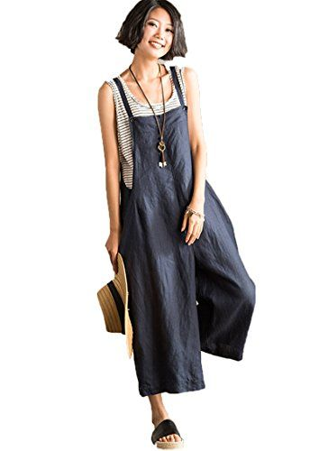 c3edaf8db1f FantasyLinen Jumpsuits For Women Plus Size Linen Overalls