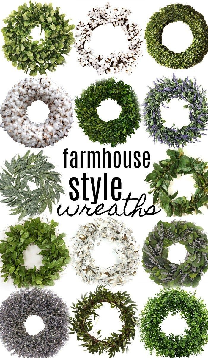 14 Farmhouse Style Wreaths