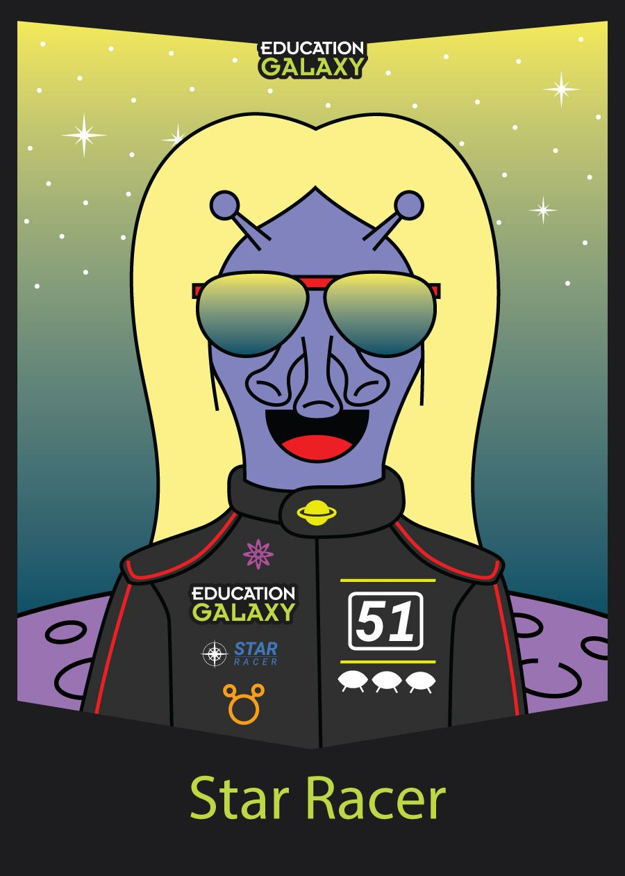 New Star Racer Trading Card 2018 2019 School Year