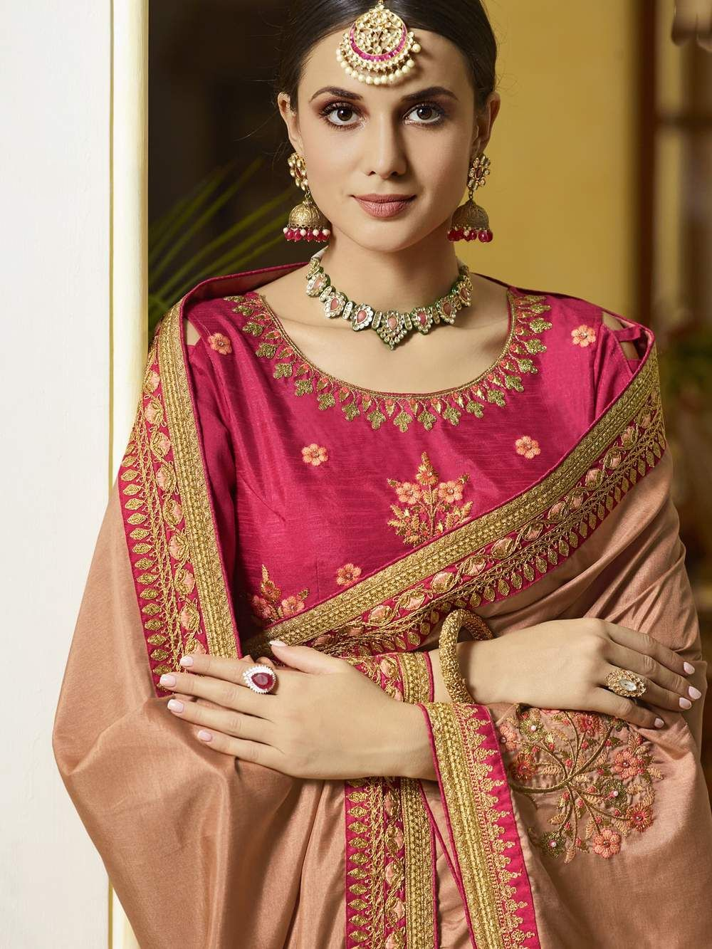 624bd5b52b Dusty Rust Color Silk Fabric Saree vastravibe – Vastravibe | jaya ...