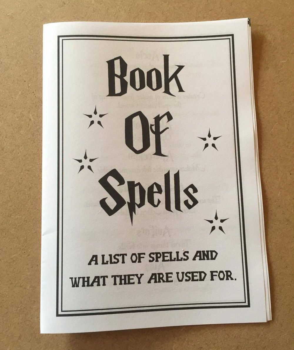 photograph about Harry Potter Spell Book Printable named Printable Spell E-book, Guide of Spells, Harry Potter Spells