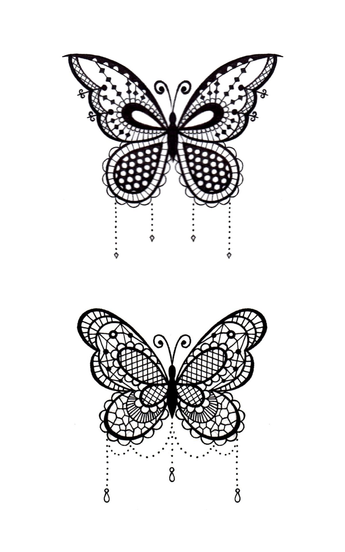 Butterfly Tattoos Simple Henna Design: Lace Butterfly Tattoo - Google Search (With Images)