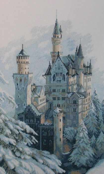 Riolis 1520 Neuschwanstein Castle Quality Embroidery Kit Counted
