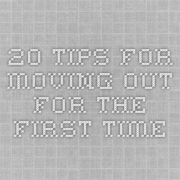 20 Tips for Moving Out for the First Time | Apartments, Future and ...