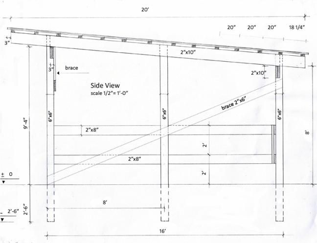 Horse shelter plans horse horse Horse run in shed plans design
