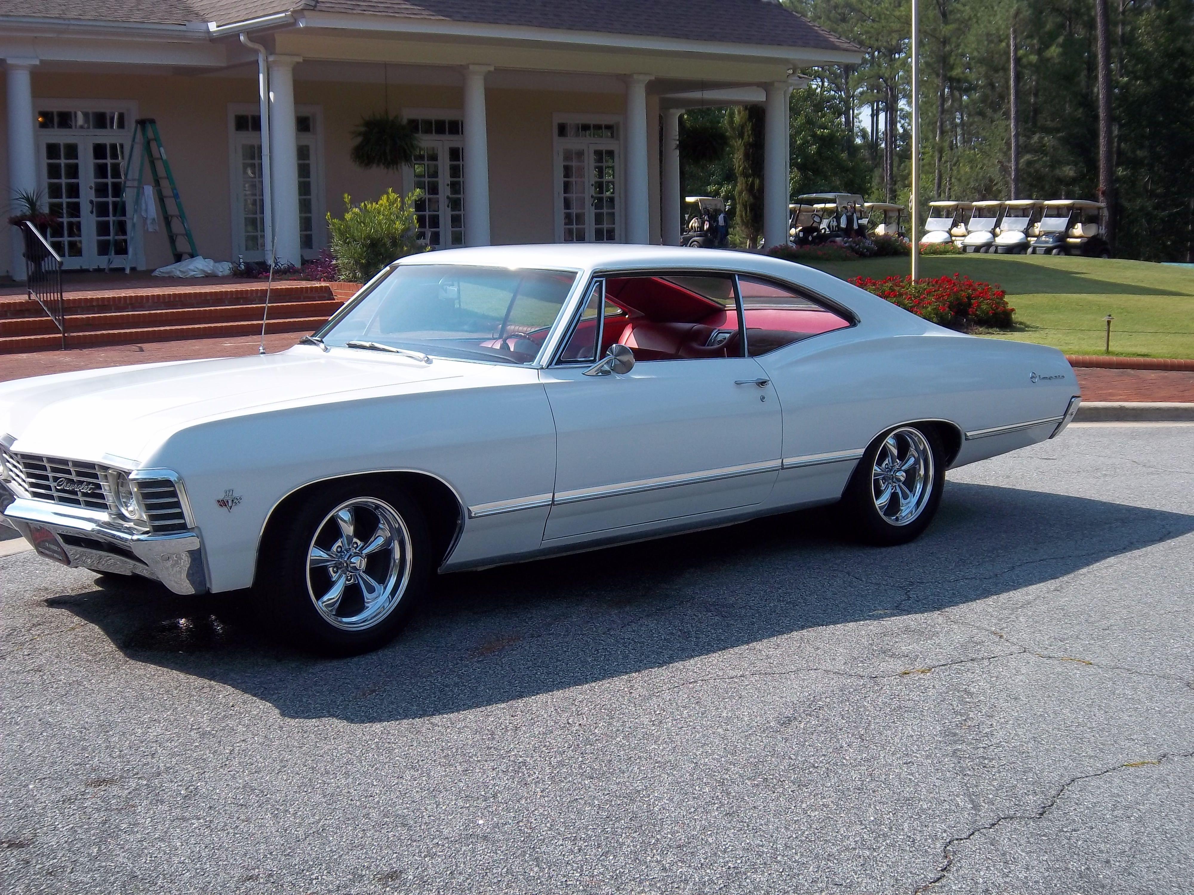 1967 White Chevy Impala 1967 Chevrolet Impala Evans 30809 0