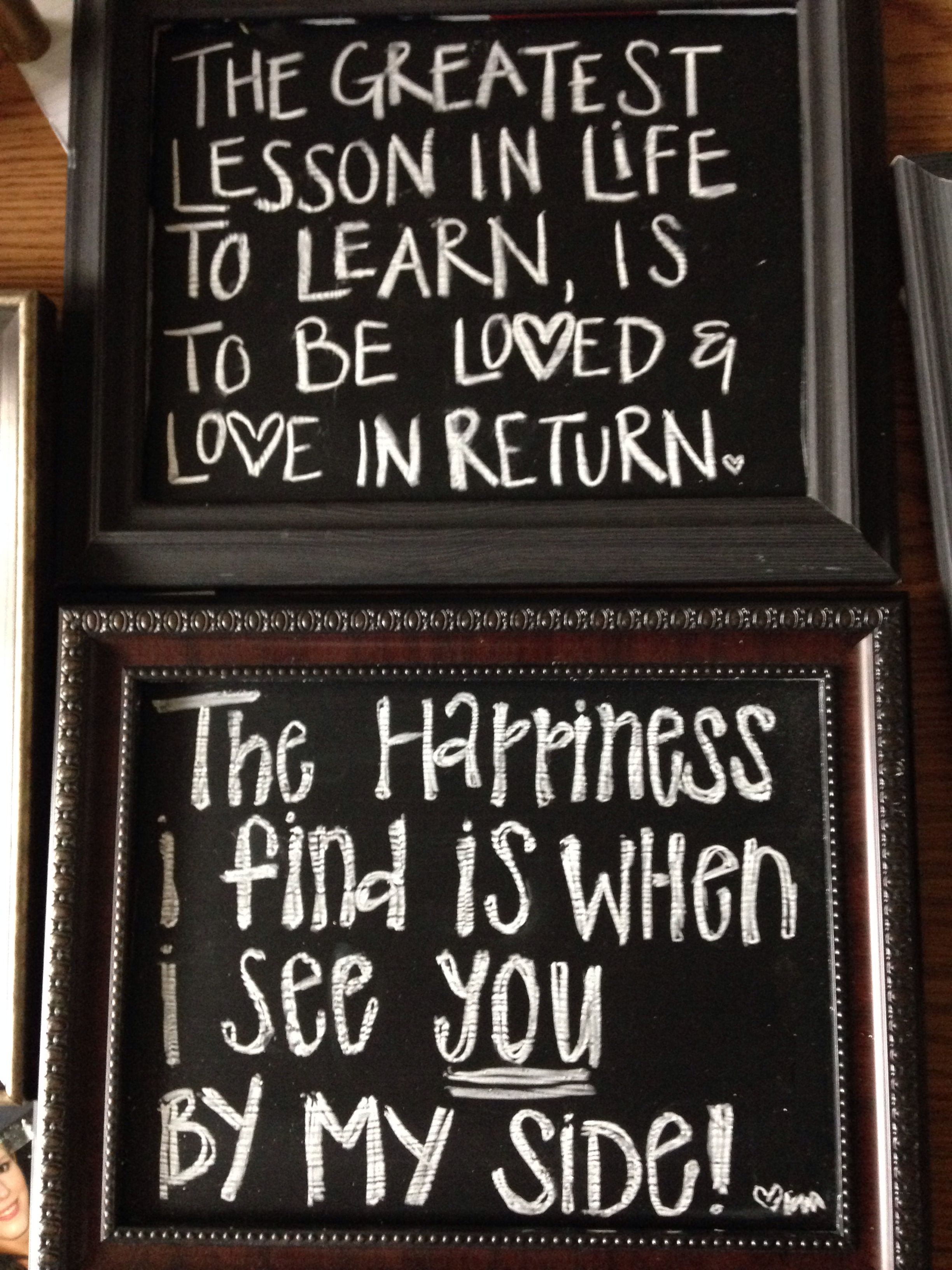 Found clearance picture frames, ($4 walmart) painted with chalkboard ...