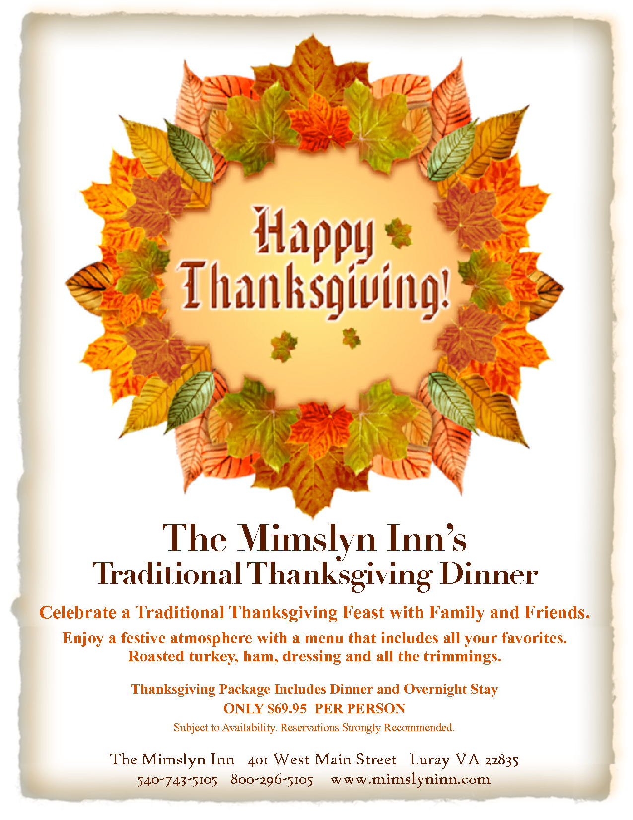 ThanksgivingDinnerFlyerTemplate  Food    Flyer