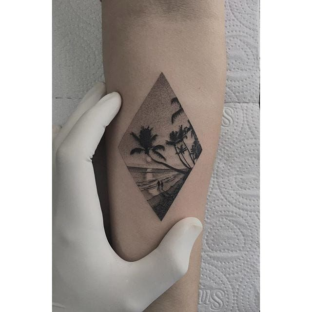 65af4e5a5548e A fresh, exciting beach tattoo will make sure it's going to be a summer  paradise for you all year long.