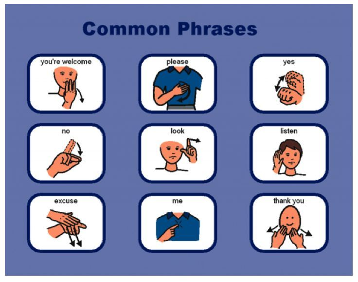 Common sign language phrases bing images sign language