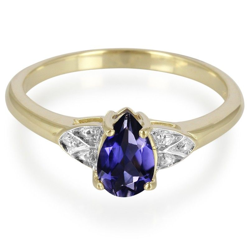 9K Orissa Iolite Gold Ring - Jewellery from Rocks & Co. stands for wonderful design and outstanding craftsmanship at an attractive price from the mine-to-market manufacturer.