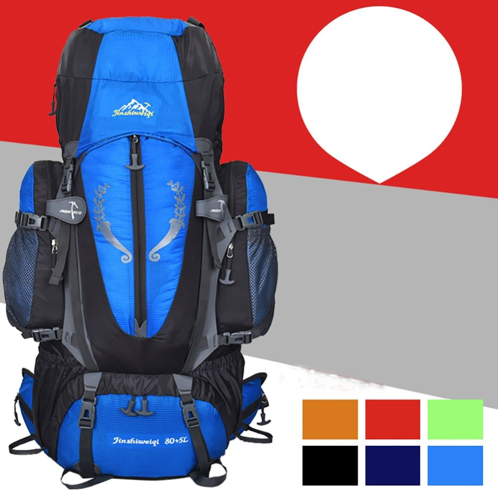 c0fffdb3e4 Outdoor Camping with 85L Waterproof large capacity Travel Bags Pack ...