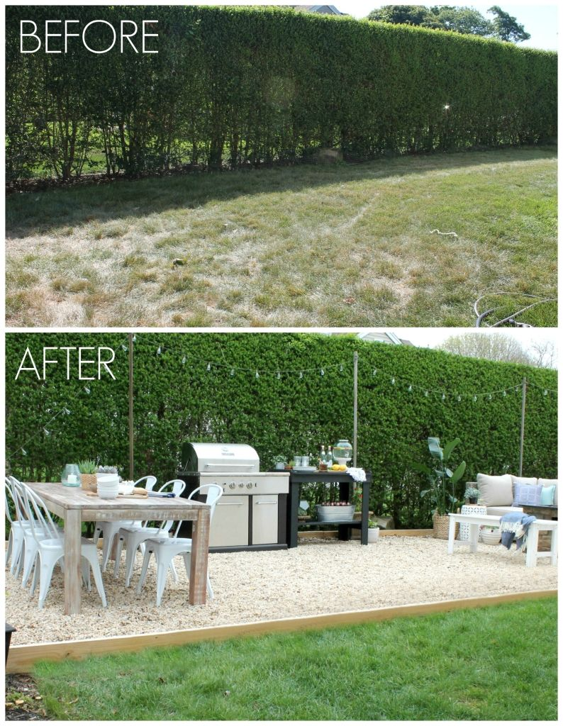 Backyard Before And After backyard patio challenge | outdoor style ideas | pinterest
