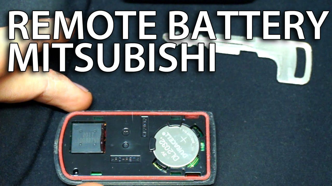 Evo X Mr >> How to replace battery in #Mitsubishi key fob remote (#Lancer #Outlander #ASX KOS keyless) | Car ...