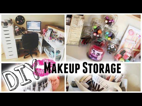DIY Makeup Organizer / Kosmetik Organizer selber machen / DIY cosmetic organizer - YouTube