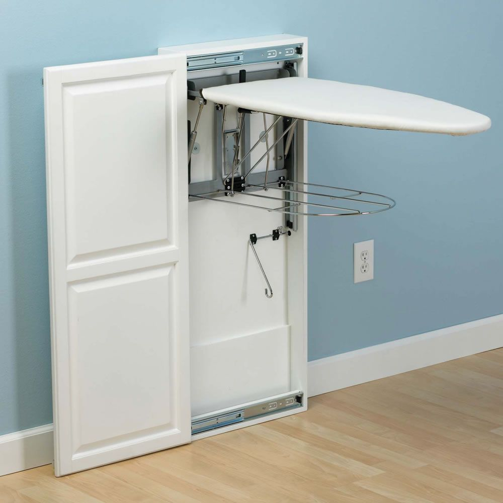 The Fold Out Ironing Board Cabinet Hammacher Schlemmer Ironing Board Paint Cabinets White Ironing Board Cabinet
