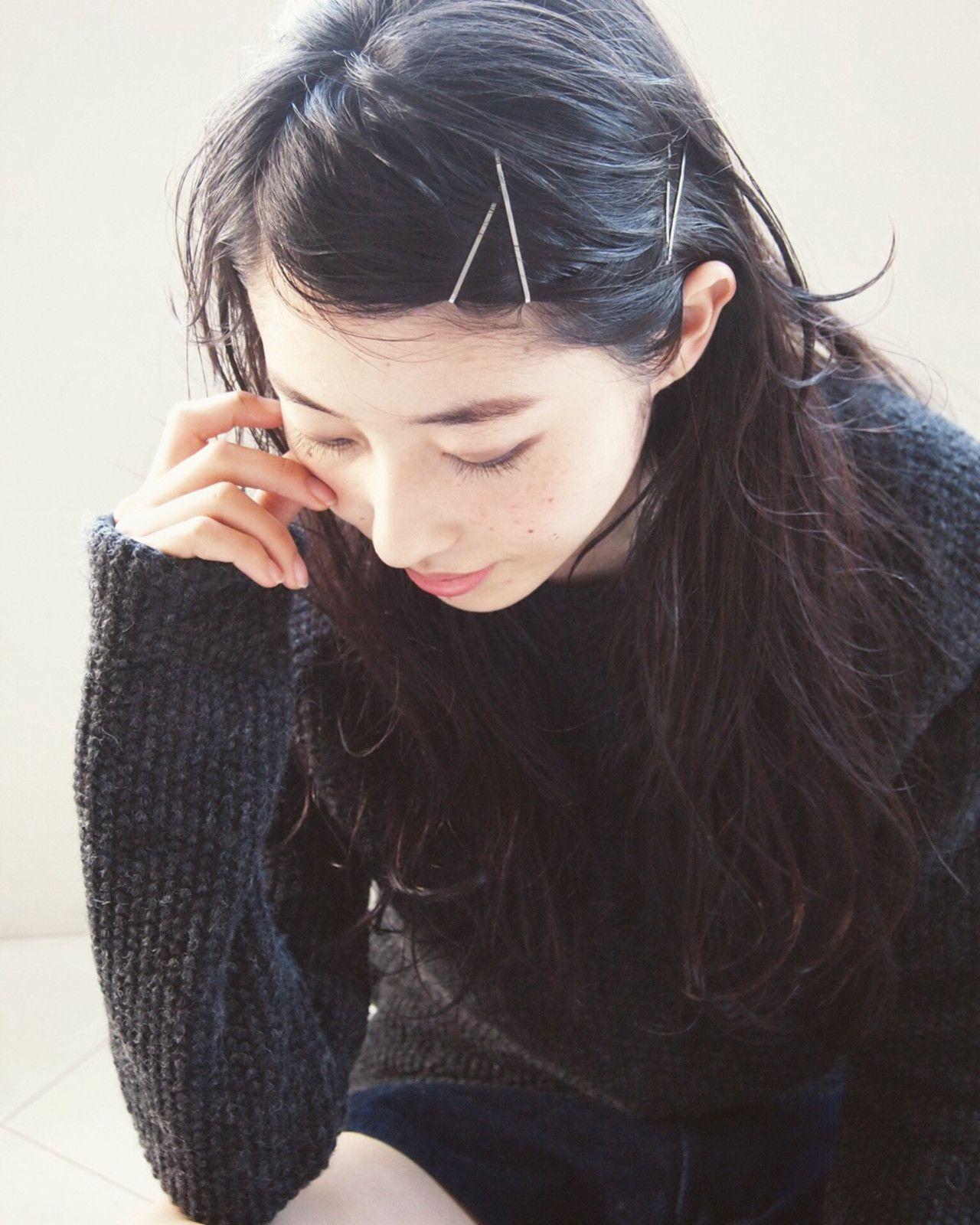 黒髪でサラッと美人 Afloat D Lのヘアスタイル 黒髪 ロング ストレート ヘアスタイル ロング ロングヘア