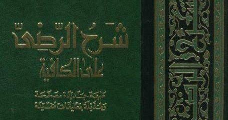 شرح الرضي على الكافية تحقيق يوسف حسن عمر pdf