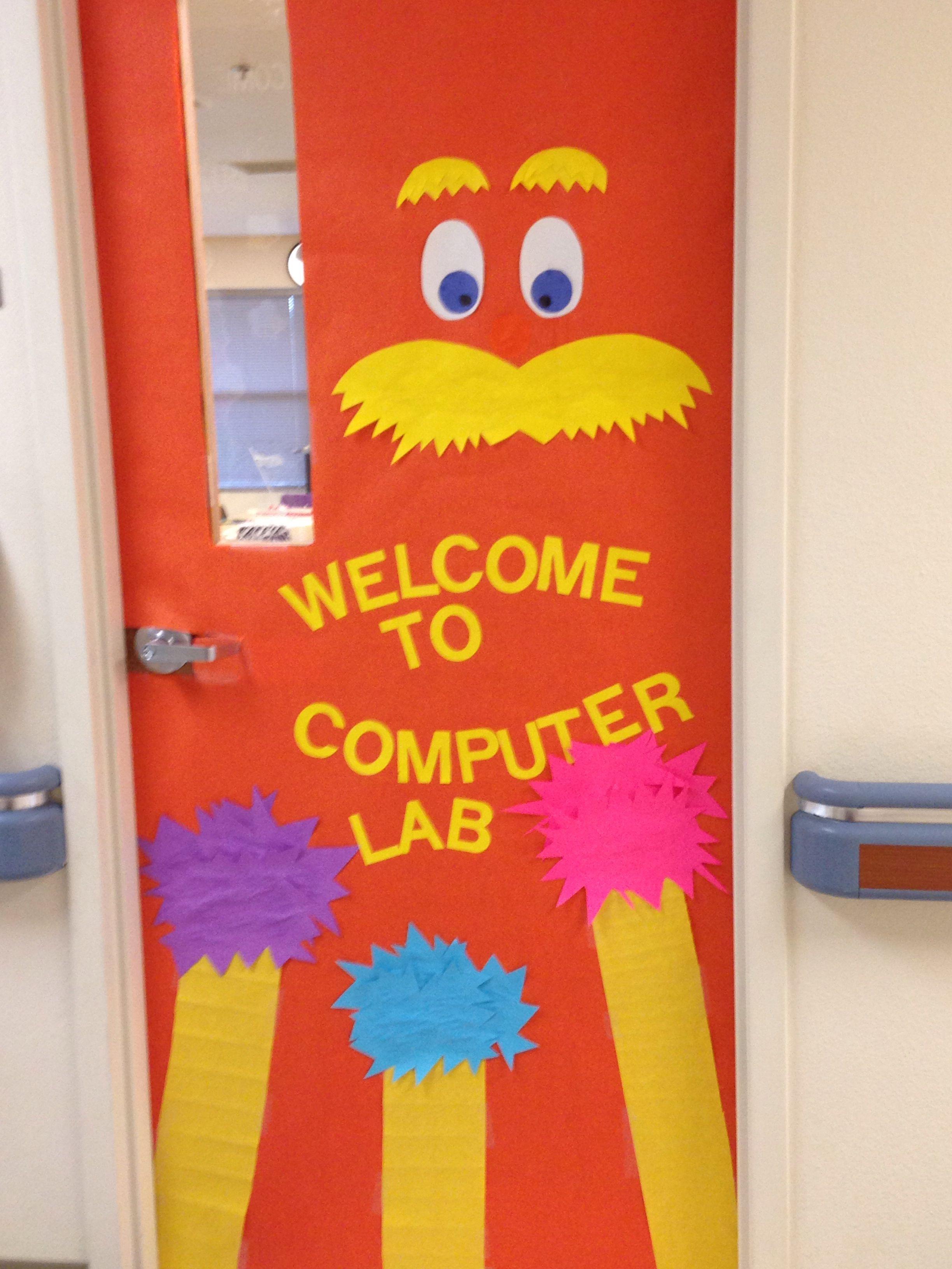 A Techy Teacher With A Cricut Spring Computer Lab Door Or