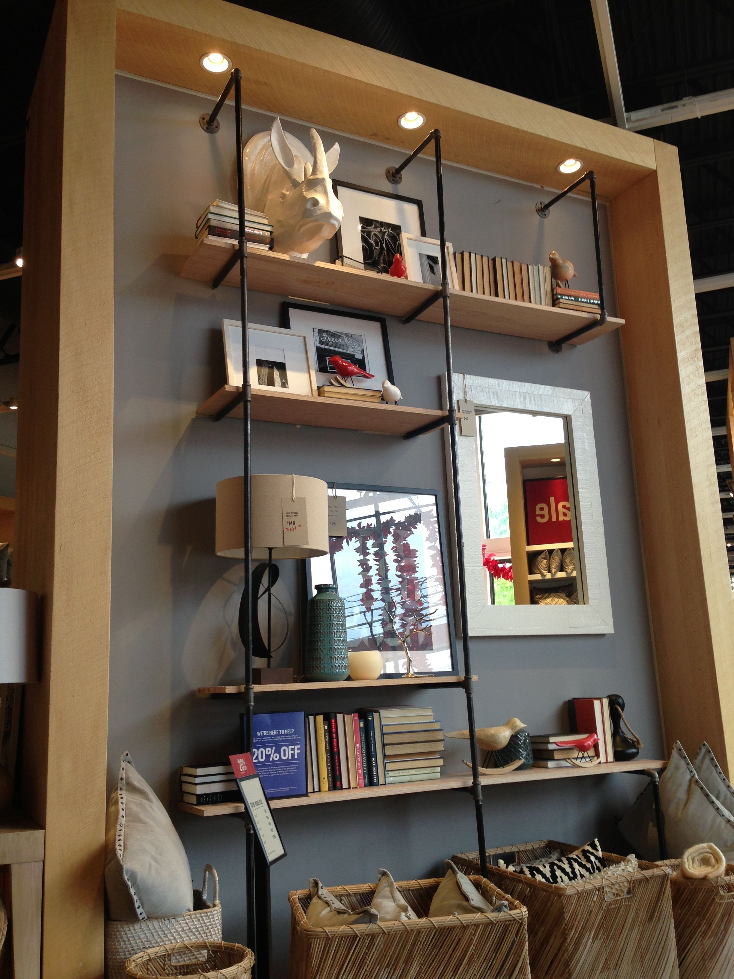 Pipe Shelf I Spotted In West Elm Overocker Living Room
