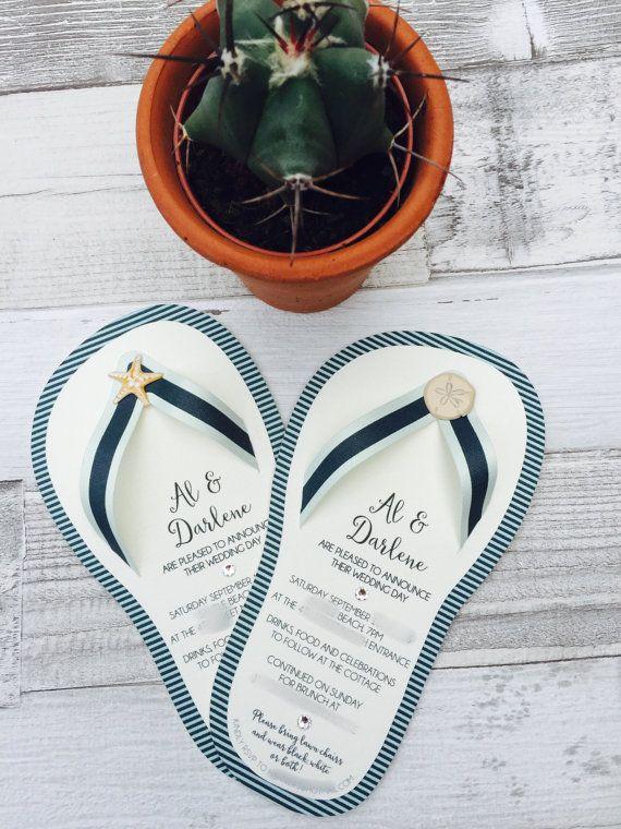 6aa4cbd56952 beach wedding invitations flip flop invites wedding by ElvaandJune ...