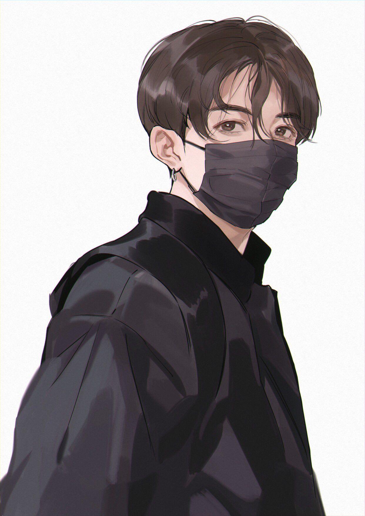 紺 on Jungkook fanart, Fan art, Bts drawings