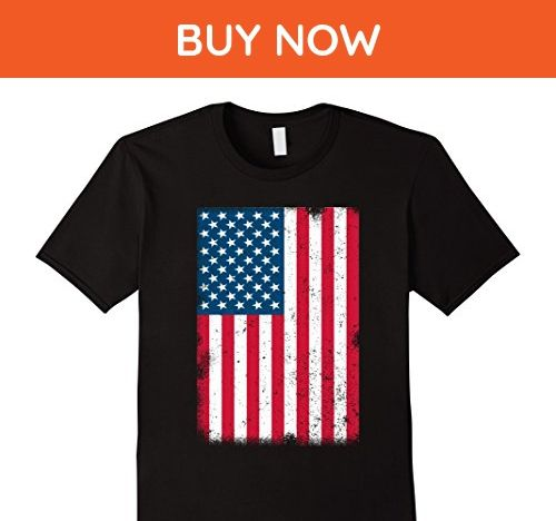 Mens American Flag T-Shirt 4th July- Red White Blue Stars Stripes Large Black - Cities countries flags shirts (*Amazon Partner-Link)
