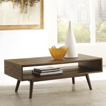 Ashley Furniture Contemporary Coffee Table With Its Canted Peg
