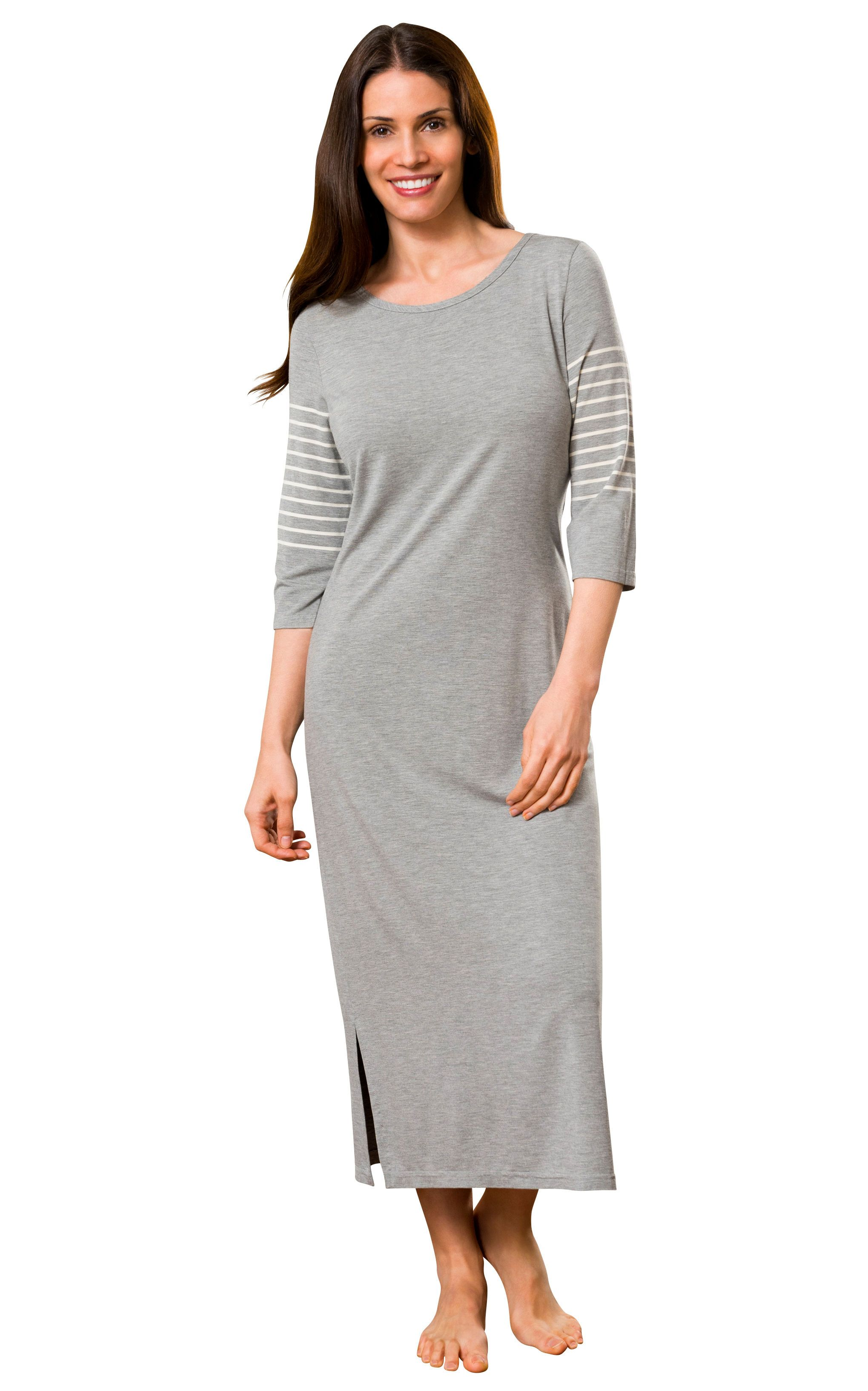 9dce229ac68c1 Shadowline Women s Long Nightgown Before Bed Modal Lounge Dress ...