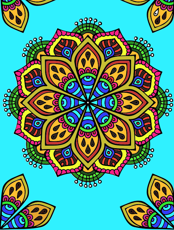 Art Therapy Mandala: coloured online at Michael O\'Mara Books ...