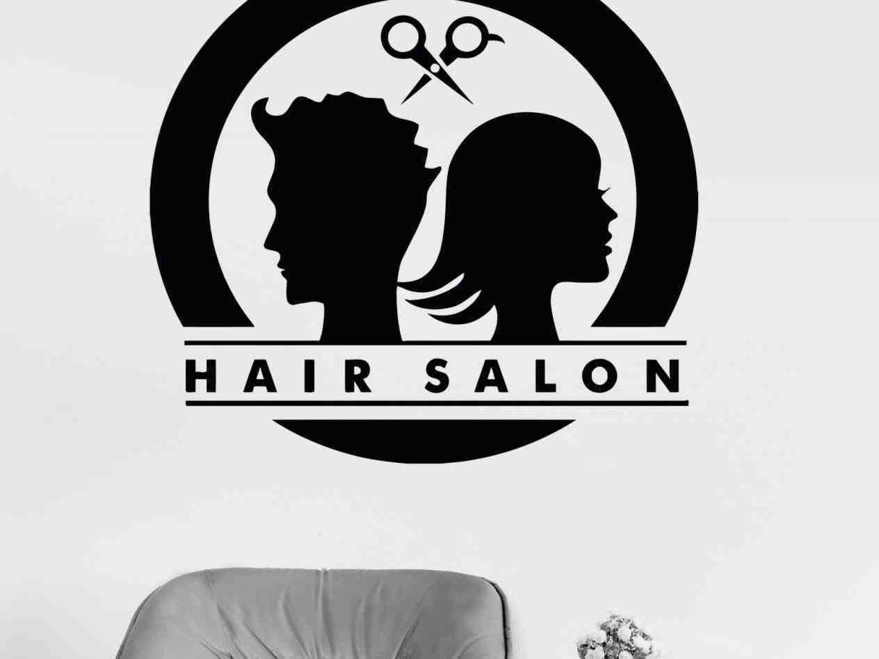 Edgy Trendy Hair Salon Logo Design Beauty Female Face Logo Design Black And White Cosmetic Salon Logo Design Creative Boys Haircuts How To Do Senegalese Cor