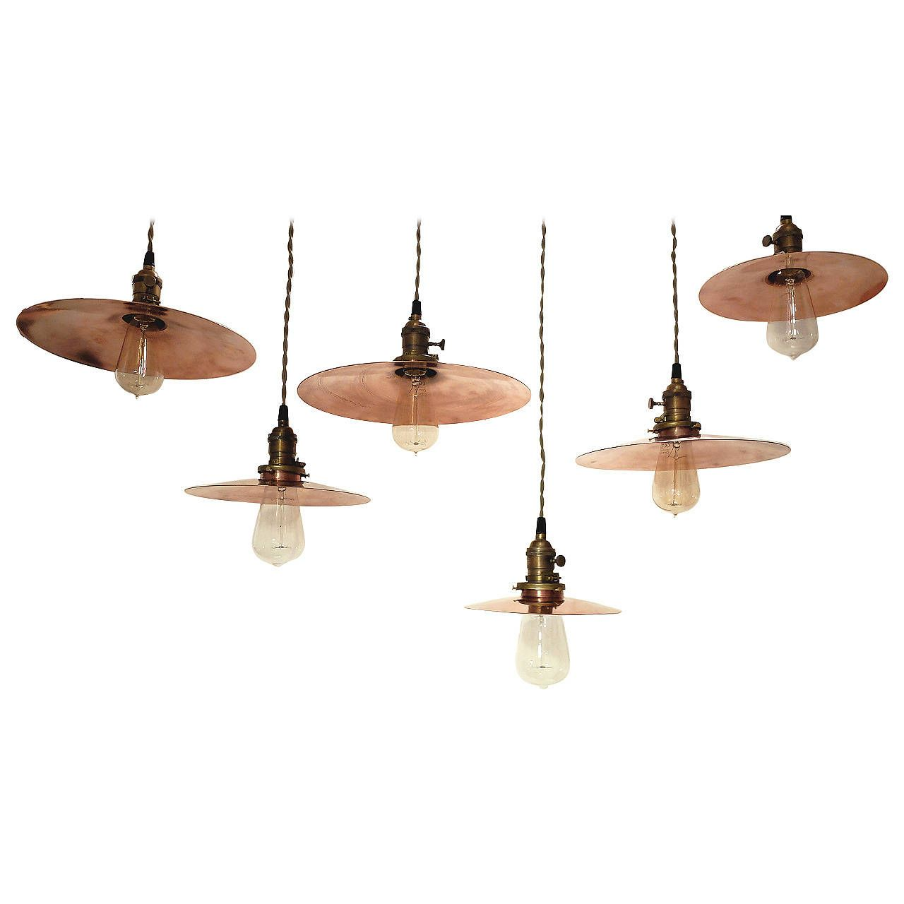 Hanging copper swinging lamps germany 1920s pendant lighting room arubaitofo Choice Image